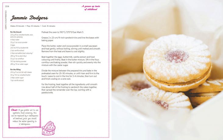 Book design for Baking Heaven cookery book