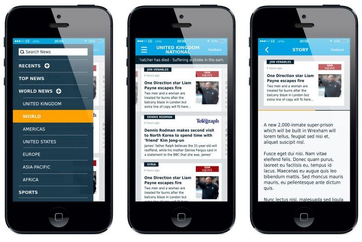 Phone app interface design and branding
