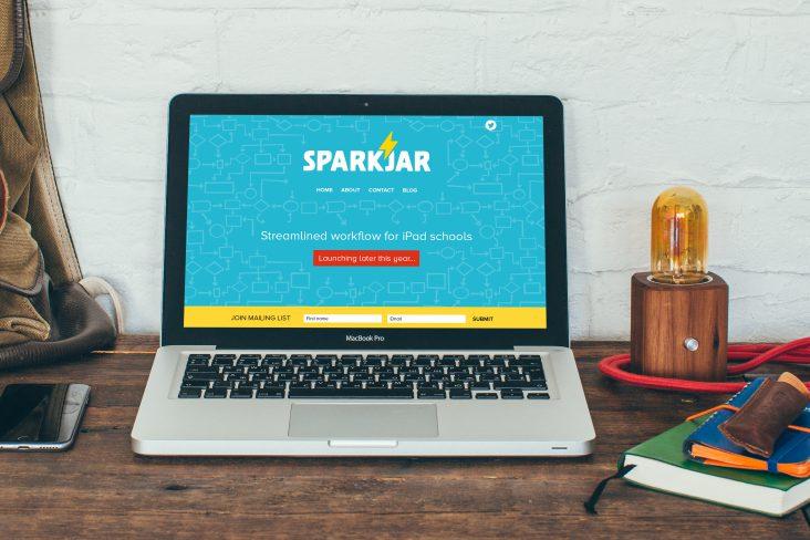 Sparkjar website design