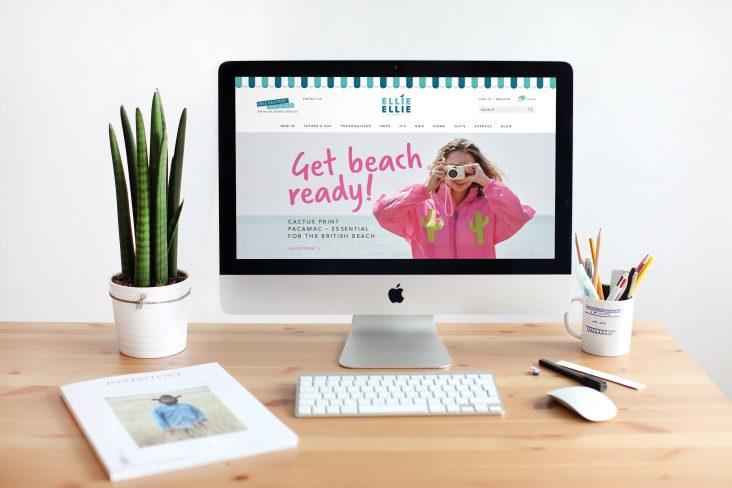 Ellie Ellie website design work
