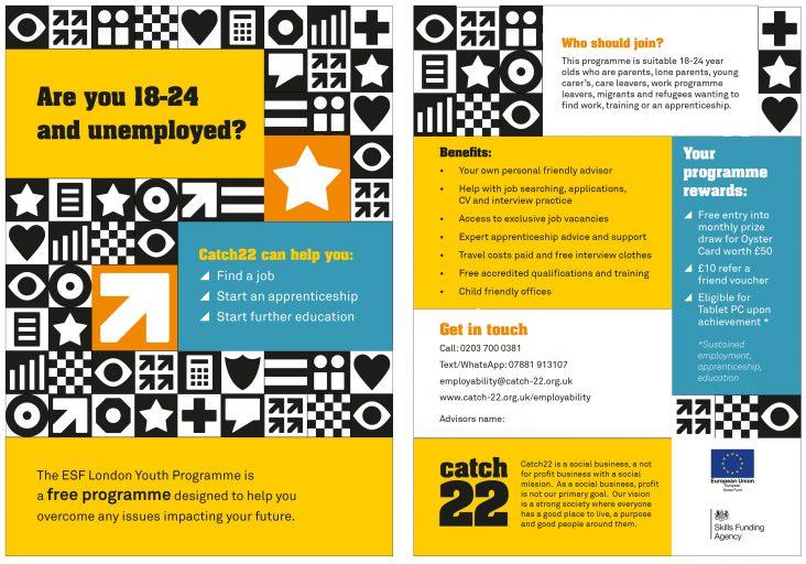 Catch22 leaflet design